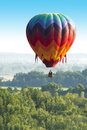 Colorful Hot Air Balloon Flight, Lots of Colors
