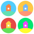 Colorful house concept. House flat icon. Design your own