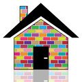 A colorful house illustration of houses on white background Royalty Free Stock Photo