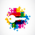 Colorful house key background abstract Royalty Free Stock Photography