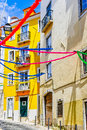 Colorful House of Lisbon Royalty Free Stock Photo