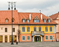 Colorful house sibiu romania Stock Image