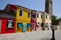 Colorful houses at Burano island Stock Photo