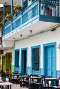 Colorful houses in Jardin, Antoquia, Colombia Royalty Free Stock Photo