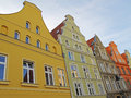 Colorful houses historic in the city centre of stralsund the hanseatic city lies in northeastern germany at the baltic sea and the Stock Images