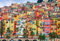Photo : Colorful houses in old part of Menton, French Riviera, France purchase house design