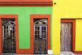 Colorful houses in Pernambuco, Brazil Royalty Free Stock Photo