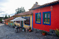 Colorful houses of Pueblito Boyacense, Boyaca,Colombia Royalty Free Stock Photo