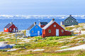 The colorful houses of Rodebay, Greenland Royalty Free Stock Photo