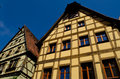 Colorful houses at Rothenburg ob der Tauber Stock Image