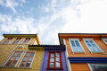 Colorful houses in stavanger wooden Stock Photo