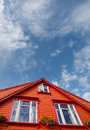 Colorful houses in stavanger wooden Stock Images