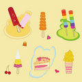 Colorful ice cream Stock Photos