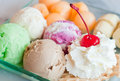 Colorful ice cream Royalty Free Stock Photos