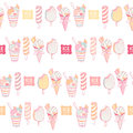 Colorful ice cream seamless pattern Royalty Free Stock Image