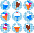 Colorful ice-cream set Royalty Free Stock Image