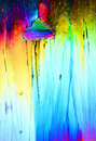 Colorful ice crystals Royalty Free Stock Photo