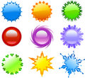 Colorful icons or buttons Royalty Free Stock Photography