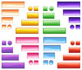 Colorful icons illustration of on a white background Stock Photos
