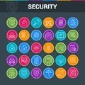Icons set on security Royalty Free Stock Photo