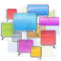 Colorful icons sms Royalty Free Stock Images