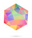 Colorful icosahedron for graphic design this is file of eps format Royalty Free Stock Photos