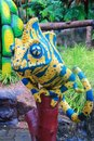 Colorful iguana statue Royalty Free Stock Photo