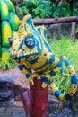 Colorful iguana statue Royalty Free Stock Photo