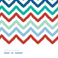 Colorful ikat chevron frame horizontal seamless vector pattern background Stock Image