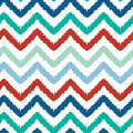 Colorful ikat chevron seamless pattern background vector Stock Photo