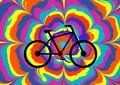 Colorful illustration for the Bicycle Day.