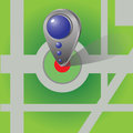 Colorful illustration with icon of map marker for your design Royalty Free Stock Photos