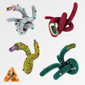 Colorful illustration set of viruses 1 Royalty Free Stock Photo