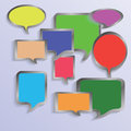 Colorful illustration speech bubbles your design Royalty Free Stock Image