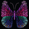 Colorful image of butterfly in abstract art style Royalty Free Stock Photo