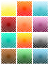 Colorful image with sun beam texture Stock Photo
