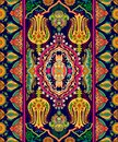 Colorful Indian Ornament, Vect...