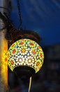 Colorful Indian street lamp Stock Photography