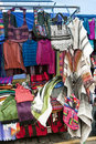 Colorful indigenous market of Otavalo Royalty Free Stock Image