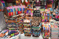 Colorful indigenous market of Otavalo Stock Photos