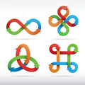Colorful infinity symbol icons design vector illustration Stock Images
