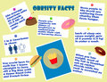 Colorful infographic obesity facts