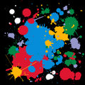 Colorful ink splats Royalty Free Stock Photography