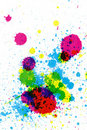 Colorful ink splatter Royalty Free Stock Photography