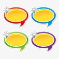 Colorful inspire speech bubbles Stock Photo