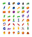 Colorful interface icons Royalty Free Stock Images
