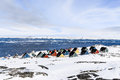 Colorful inuit houses in a suburb of arctic capital Nuuk Royalty Free Stock Photo