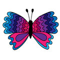 Colorful isolated butterfly with abstract pattern on the wing fo