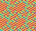 Colorful Isometric Maze. Seaml...