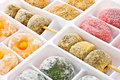 Colorful Japanese dessert Royalty Free Stock Photo